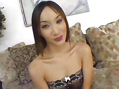 Asian Katsumi is gangbanged by a group of hot dongs