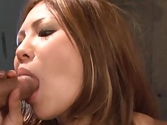Large bra buddies Oriental gets her taut cunt thrashed in hawt group sex