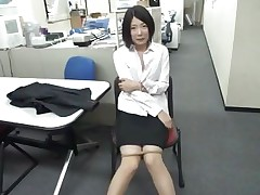 Bored at work the slutty brunette chick starts sucking on that dildo. She's horny and likes playing with dildos but what if her boss finds her? Doesn't she knows that this kind of stuff are not allowed at work? Well, maybe she will be lucky and won't get caught, or she will have to suck on a real cock