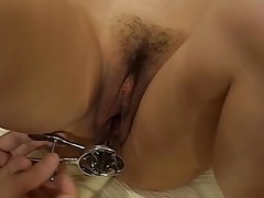 Hunk showed no lenience as this chab bangs cute chick tenaciously