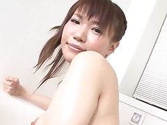 Pal licks, fingers and bonks bushy vagina of girlie from Asia