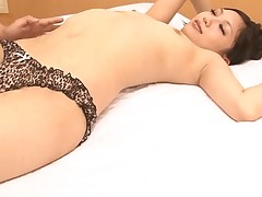 Japanese chick enjoys coarse anal toying and unfathomable pounding